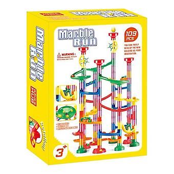105/109pcs Diy Marble Run Race Set - Chemin de fer, Bâtiment, Blocs de construction