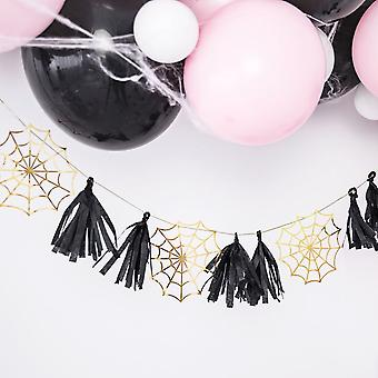 Spiderweb Halloween Party Paper Garland 1.75m