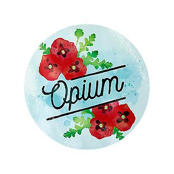 Deadly Detox Opium Circulaire Glass Chopping Board