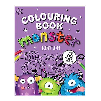 A4 Size Monster Edition Children's Colouring Book