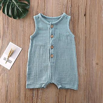 Summer Sleeveless Newborn Baby / Clothes - Cactus Print Romper, Jumpsuit Soft
