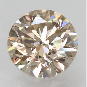Cert 0.55 Carat Top Top Light Brown VVS1 Round Brilliant Natural Diamond 5.15mm