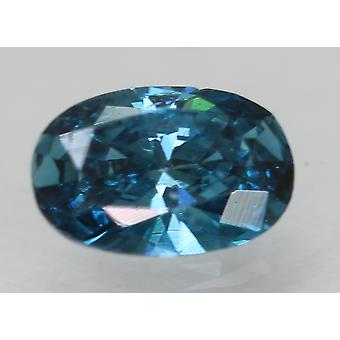 Cert 0,30 Karat Vivid Blau VS1 Oval Enhanced natürliche lose Diamant 5.41x3.61mm