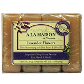 A La Maison Bar Soap Value Pack, Lavender Flowers 4 CT