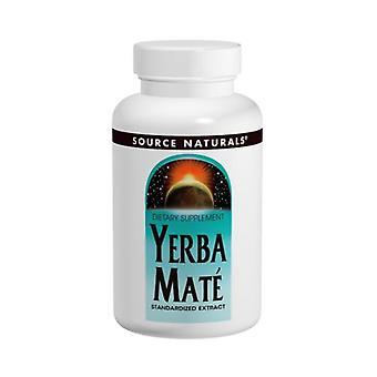 Lähde Naturals Yerba Mate, 600 mg, 90 Tabs