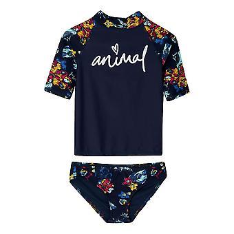Animal Rash Vest Suit - Indigo Blue