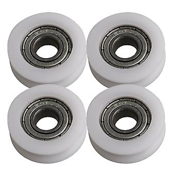 4x U-type Groove Bearing 696ZZ Guide Pulley Load-bearing 57KG 21x6x7mm