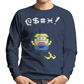 Despicable Me Minion Pixel Swearing Banana Skin Men's Moletom