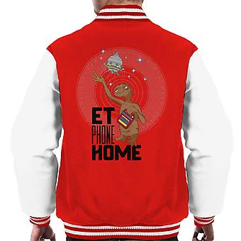 E.T. Phone Home Looking At Spacecraft Men's Varsity Jacket