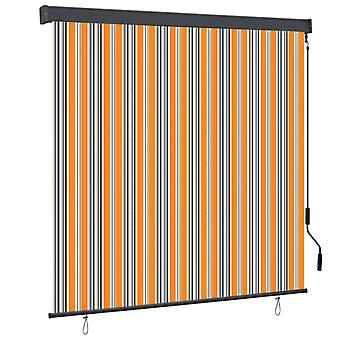 vidaXL outer roller blind 170x250 cm yellow and blue