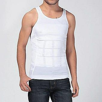 Men Slim Vest Sweat Body Shaper Tank Top- Slim Trimmer Shirt