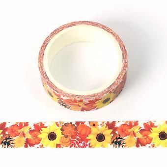 Sonnenblume und Blumen Druck dekorative Washi Tape 15mm x 5m