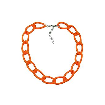 Necklace Wide Curb Chain Apricot-matt