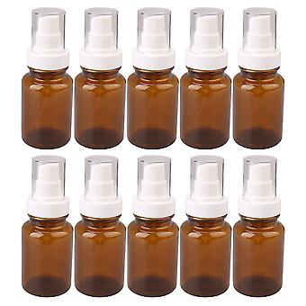 10x Brown Travel Size Cosmetic 120ml Plastic Pump Spray Bottle 120ML