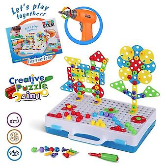 3d Diy Puzzle Pretend Tools - Creative Educational Toy