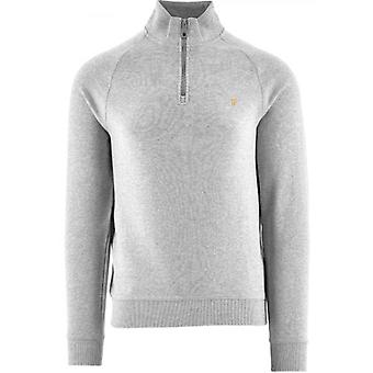 Farah Grey Jim Quarter-Zip Sweatshirt