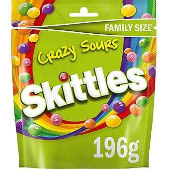 Mars Skittles Crazy Sours Family Size Pouch, 196g bag