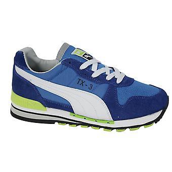 Puma TX-3 Lace Up Blue Leather Textile Mens Trainers 341044 71 B24C