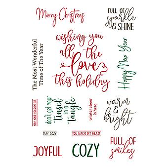 LDRS Creative Elegant Holiday Wishes Clear Sentiment Stamps