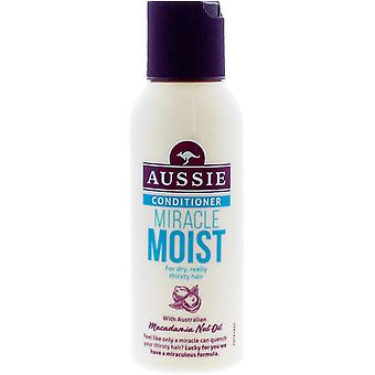 3 x Aussie Miracle Moist Conditioner For Dry Really Thirsty Hair 90ml