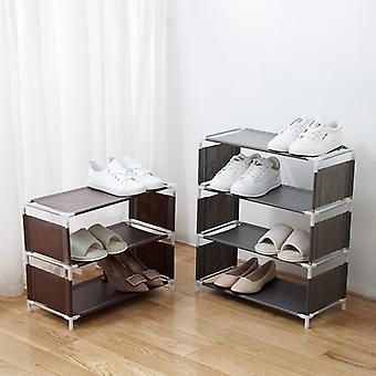 Multi-storey Shoe Rack Organizer Household Cloth Storage Rack Simple Dormitory Provincial Space Rack