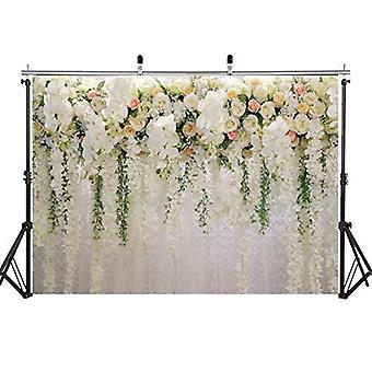 Aiikes 7x5ft brud blommor vägg bakgrund gardin blommig 3d ros bröllopsfest fotografi backgroun