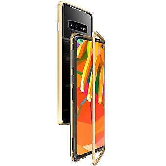 Magneettinen karkaistu lasi kuorikotelo Samsung Galaxy S10 + / S10 Plus / S10