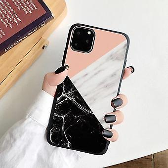 iPhone 12, 12 Pro & 12 Pro Max Shell pink black marble