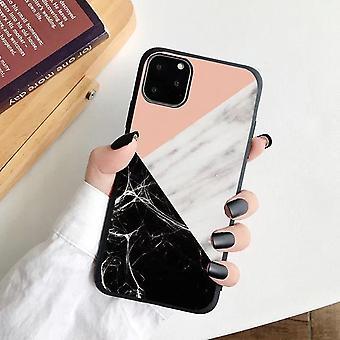 iPhone 12, 12 Pro és 12 Pro Max Shell rózsaszín fekete márvány
