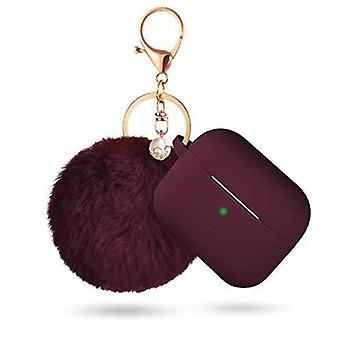 Airpods Pro Protective Silicone Case With Keychain And Pompom