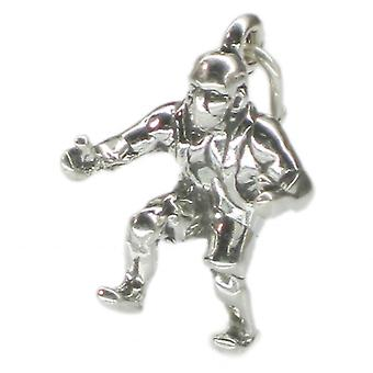 Wrestler Sterling Silver Charm .925 X 1 Wrestling And Wrestlers Charms - 1357