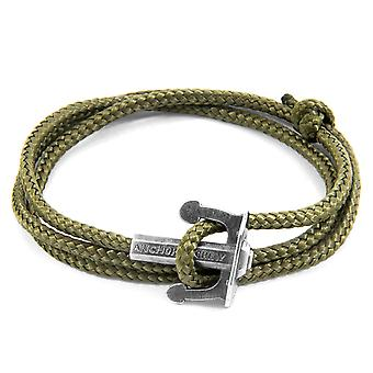 ANCHOR & CREW Union Anchor Silver and Rope Bracelet