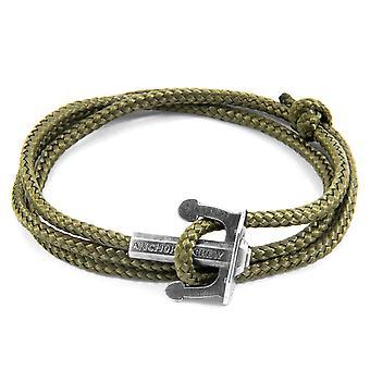 ANCHOR & CREW Union Anchor Bracciale in argento e corda