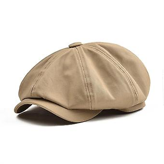 Twill Cotton Eight Panel Hat, Baker Retro Big Large Cap