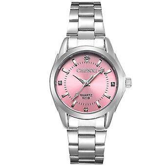 CHENXI 021B Rhinestone Moda Mulheres Relógios De aço Inoxidável Cinta Quartzo W