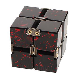 Fashion Aluminum Alloy Infinite Puzzle Finger Flip Cube Block