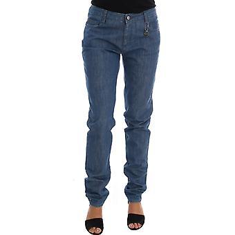 Costume National Blue Wash Cotton Boyfriend Fit Jeans