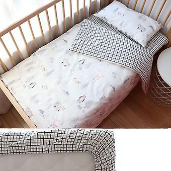 Baby-Bettwäsche-Set &, Nordic Cotton Bettwäsche Kinderbett Kit, Krippe für Neugeborene