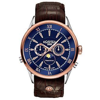 Roamer 508821 49 43 05 Superior Moonphase watch 43 mm