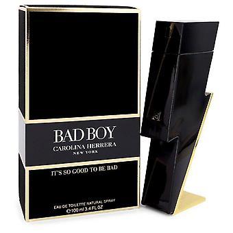 Bad Boy Eau De Toilette Spray por Carolina Herrera 3.4 oz Eau De Toilette Spray