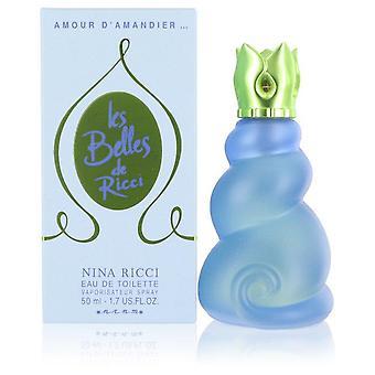 Les Belles Amour D'amandier Eau De Toilette Spray By Nina Ricci 1.7 oz Eau De Toilette Spray