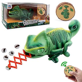 Remote Control Cameleon, Led Lights, Meal Catching Action Tongue