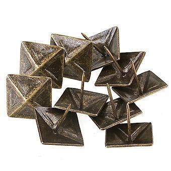 10pcs møbeltrekk tack dekorative spiker møbler firkantet nagle bronse 30x30mm