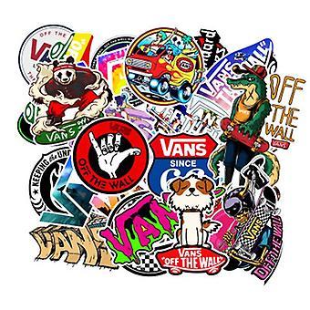 100pcs Wall Diy Cartoon Waterproof Pvc Mixed Cartoon Stickers