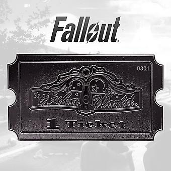 Nuka World (Fallout) Silver Plated Limited Edition Ticket Replica
