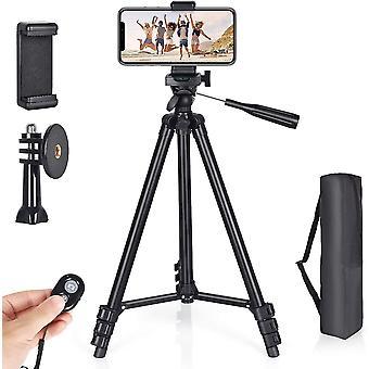 Handy Stativ 130cm Aluminium Kamera Stativ, mit handystativ adapterund Bluetooth