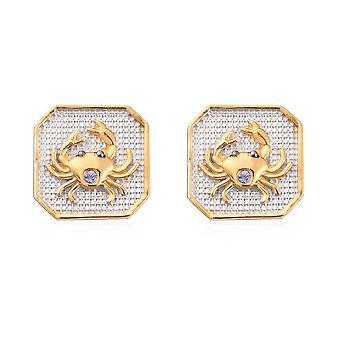 Tanzanite Cancer Zodiac Creature Earrings for Women Sterling Silver 0.05ct