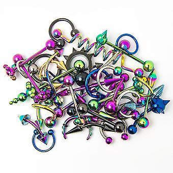 الجملة هيئة المجوهرات - 30 مختلطة ip التيتانيوم - الشفة والأذن والحلمة واللسان والأنف
