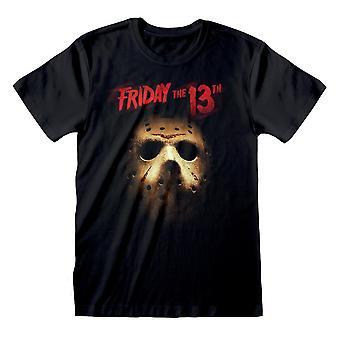 Friday The 13th Womens/Ladies Jason Voorhees Mask Boyfriend T-Shirt