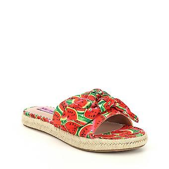 Betsey Johnson Womens Jazzy Fabric Open Toe Casual Slide Sandals
